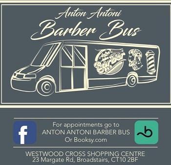 ANTON ANTONI BARBER BUS logo