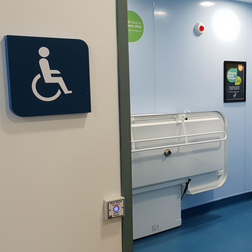Accessible toilet at Westwood Cross
