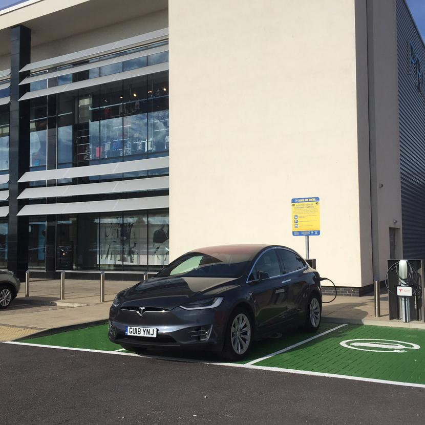 Car charging at Westwood Cross