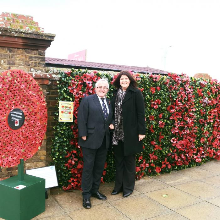 Remembrance Procession Thanet Westwood Cross