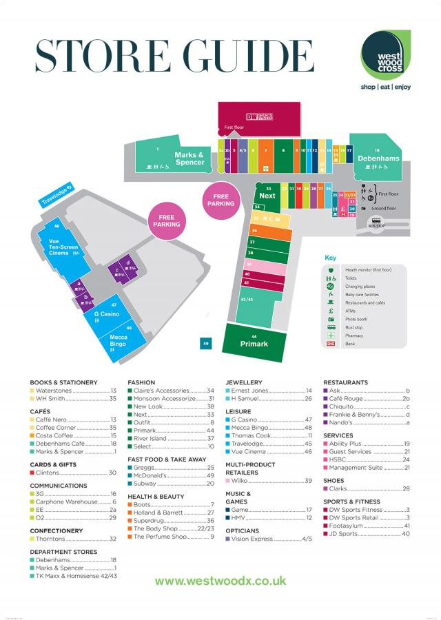 Westwood Cross Centre Map
