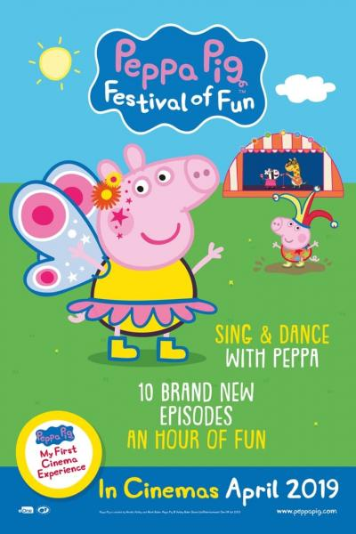 See new Peppa Pig film Festival of Fun at Vue cinema in Westwood Kent this April